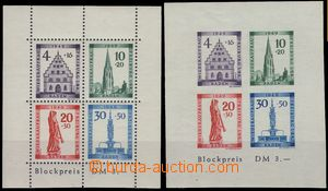 75471 - 1949 FRENCH ZONE / BADEN  Mi.Bl.1A+B (Mi.38-41), Freiburg, m