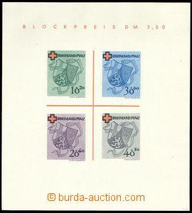 75472 - 1949 FRENCH ZONE / RHINELAND-PALATINATE  Mi.Bl.1 (Mi.42-45B)