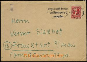 75556 - 1945 SOVIET ZONE / THURINGIA  letter with 12Pf, Mi.97A, MC G