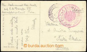 75574 - 1917 S.M. STEAMER XIX, red bicircular cancel. with eagle, CD