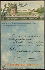 75586 - 1900 Joseph Šváb No. 130, color chromolitography, long add