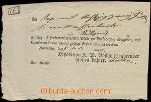 75596 - 1828 předtištěný formulář pojízdné pošty HEILBRONN