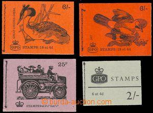 75599 - 1968-75 sestava 4ks známkových sešitků, 3 ks 1968-69 nominál