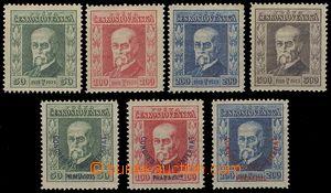 75601 - 1923-25 Pof.176-179 + Pof.180-182 Olympijský kongres, stopa