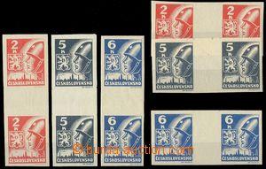 75605 -  Pof.354-356Ms+v(2), Košické vydání, hodnoty 2K, 5K a 6K, se