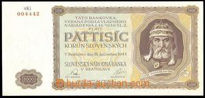 75608 - 1944 SLOVAKIA  Ba.N5, 5000Ks Prince Mojmír, c.v.. 2.500CZK,
