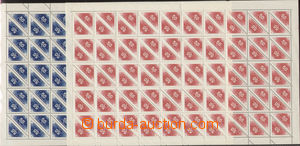 75640 - 1937 Pof.DR1-2, comp. 2 pcs of complete 100-stamps. sheets,