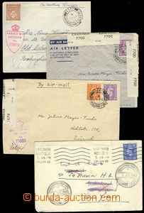 75663 - 1940-45 comp. 9 pcs of various entires sent on/for or from m