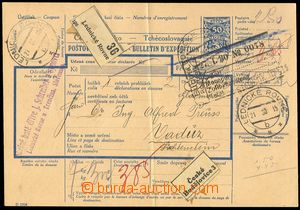 75668 - 1930 CPP22, vtištěný kolek 50h 1925, celá poštovní pr�