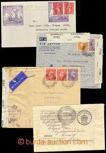 75669 - 1940-45 sestava 9ks různých celistvostí zaslaných na neb