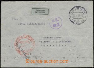 75680 - 1939 air-mail letter to Argentina, on reverse franked with.