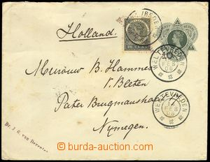 75694 - 1905 postal stationery cover 20c uprated with stamp 20c, Mi.