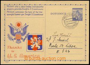 75708 - 1945 CDV76 with additional-printing Visit Gen. D. D. Eisenho
