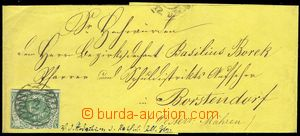 75711 - 1851 whole newspaper wrapper with 3Pf, Mi.2, cancelled numer