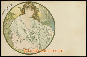75746 - 1900 MUCHA Alfons (1860–1939), Champenois, Serie 4, The Mo