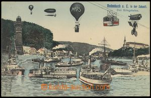 75749 - 1905 PODMOKLY (Bodenbach) - collage town in future, war port