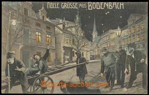 75750 - 1905 PODMOKLY (Bodenbach) - color collage, drunkards, Us pos