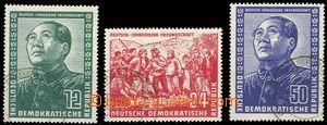 75753 - 1951 Mi.286-288, Německo-čínské přátelství, kat. 150€