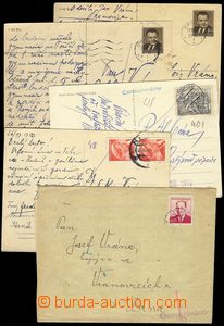 75756 - 1950 ZNOJMO, MÍROV  comp. 11 pcs of entires from one politi