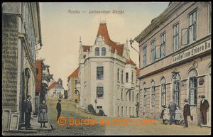 75759 - 1910 ÚŠTĚK (Auscha) - color, view of Litoměřické stree