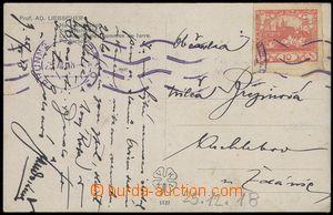 75765 - 1918 postcard franked. stamp. 10h red, Pof.5, machine cancel