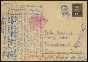 75779 - 1949 CENSORSHIP, PC CDV94 to Germany, Russian zone, CDS TEPL