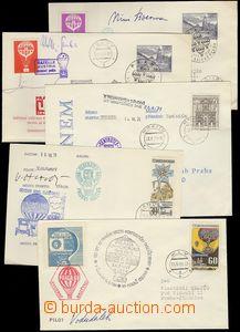 75795 - 1968-71 CZECHOSLOVAKIA 1945-92 / BALLOON MAIL  comp. 5 pcs o