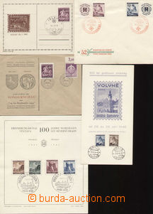 75800 - 1939-45 comp. 7 pcs of entires and first day sheets with com