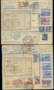 75803 - 1939-41 sestava 2ks větších částí mezinárodních poš