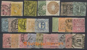 75832 - 1852-71 selection of 27 pcs of stamps, contains i.a. Thurn-T