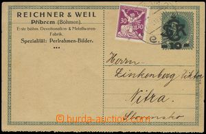 75890 - 1920 CDV1, Monogram 10h with perf to type stroje(!) and priv