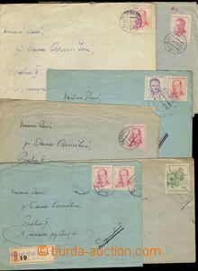 75907 - 1956-59 ILAVA, LEOPOLDOV, VALDICE, PŘÍBRAM  sestava 6ks dopi