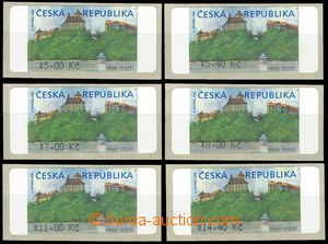 75921 - 2000 AT1 Veveří (castle), variant II. with *, 6 pieces, valu