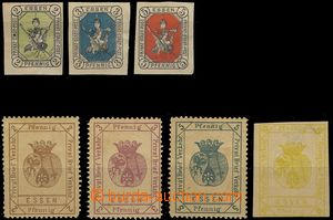 75948 - 1887-88 ESSEN  comp. 7 pcs of private stamp., Mi.1-3 (clear