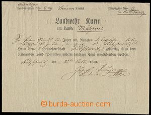 75982 - 1808 MILITARIA  document member country defence (Landwehrkar