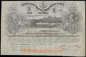 76001 - 1858 mail-order form, Žatec, Žatecký chmelařský club/as