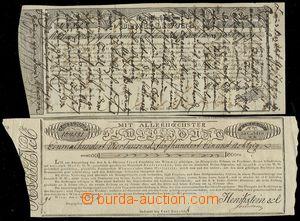 76003 - 1819-25 AUSTRIA  comp. 2 pcs of tickets, 1x very written