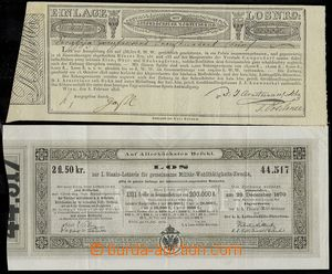 76005 - 1818-70 AUSTRIA  comp. 2 pcs of tickets, light crosswise fol