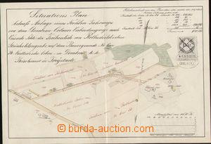 76011 - 1860 situation plan Rotschildova colliery Doubrava-Orlová (
