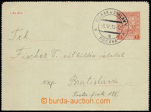 76056 - 1933 letter-card CZL 2C posted in territory of Carpathian Ru