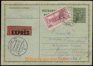 76057 - 1934 CPO2, zaslaná Ex, dofr. zn. Pof.277, všechny náleži