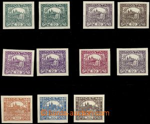 76087 -  ZT hodnot 20h a 300h, sestava 11ks, různé barvy a odstín