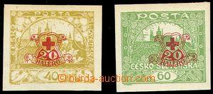 76098 -  Pof.170-171Nc, nezoubkované známky s přítiskem A, kat.