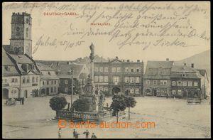 76115 - 1915 JABLONNÉ V PODJEŠTĚDÍ (Deutsch Gabel) - náměstí;