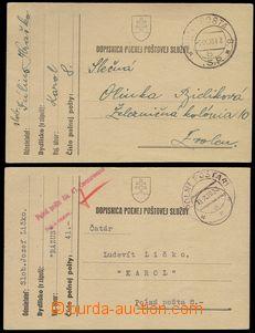 76126 - 1939 sestava 2ks lístků PP, 1x znárodněné DR PP č.8 -1