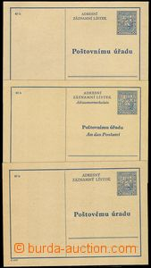76157 - 1937 CAZ1A+B+C, comp. 3 pcs of p.stat  in various language v