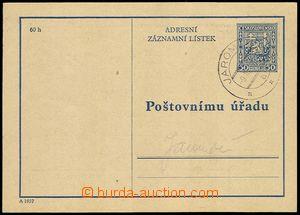 76158 - 1937 CAZ1A, CDS JAROMĚŘ 9.III.37, c.v.. 2500CZK, nice
