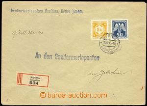 76162 - 1943 Reg letter franked with. mixed franking service stmp Po