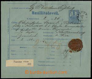 76183 - 1979 dobírkový nákladní list Szállitólevél s předti�