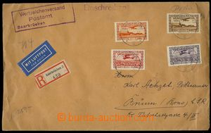 76198 - 1934 Reg and airmail letter to Czechoslovakia with Mi.195-19